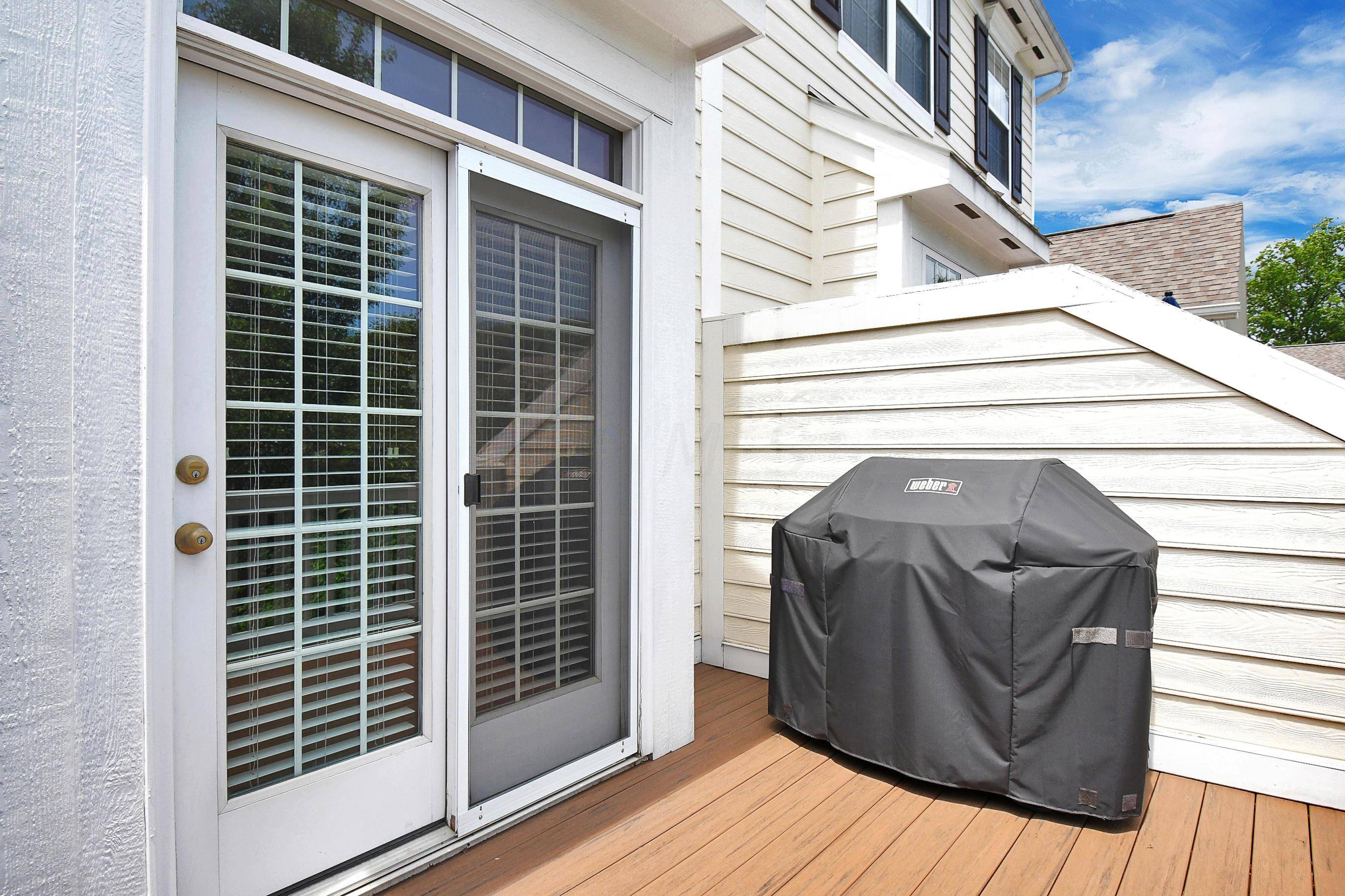 French Doors lead to Deck
