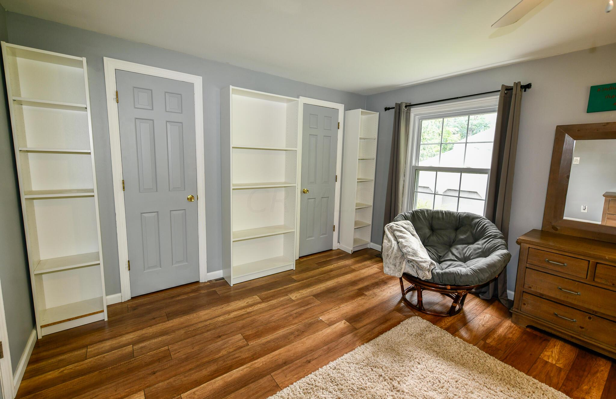 Two Closets and Bookcases