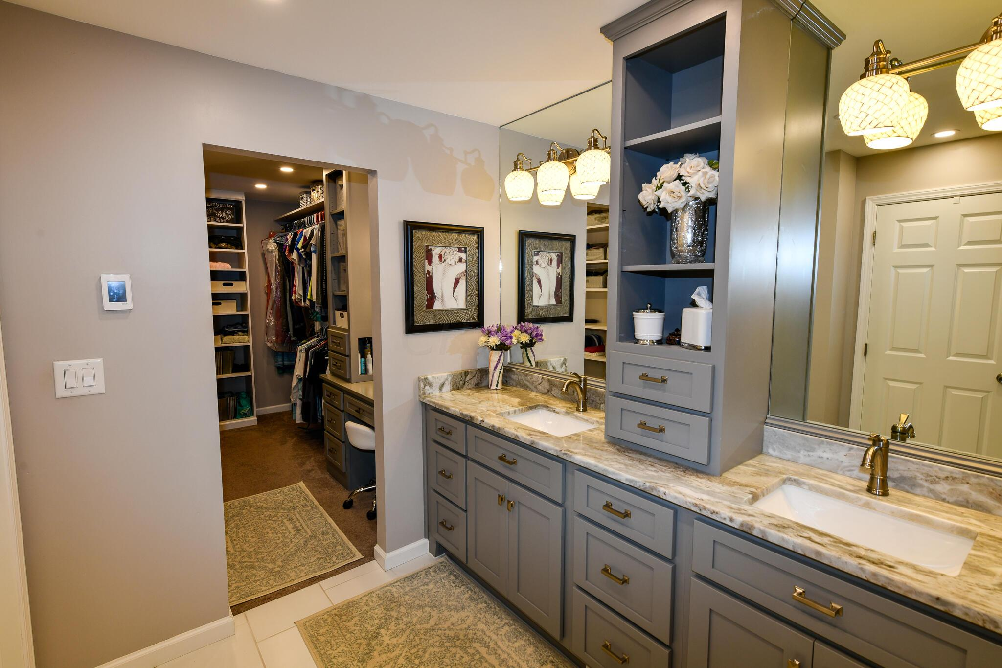 Custom Mirrors and Center Tower