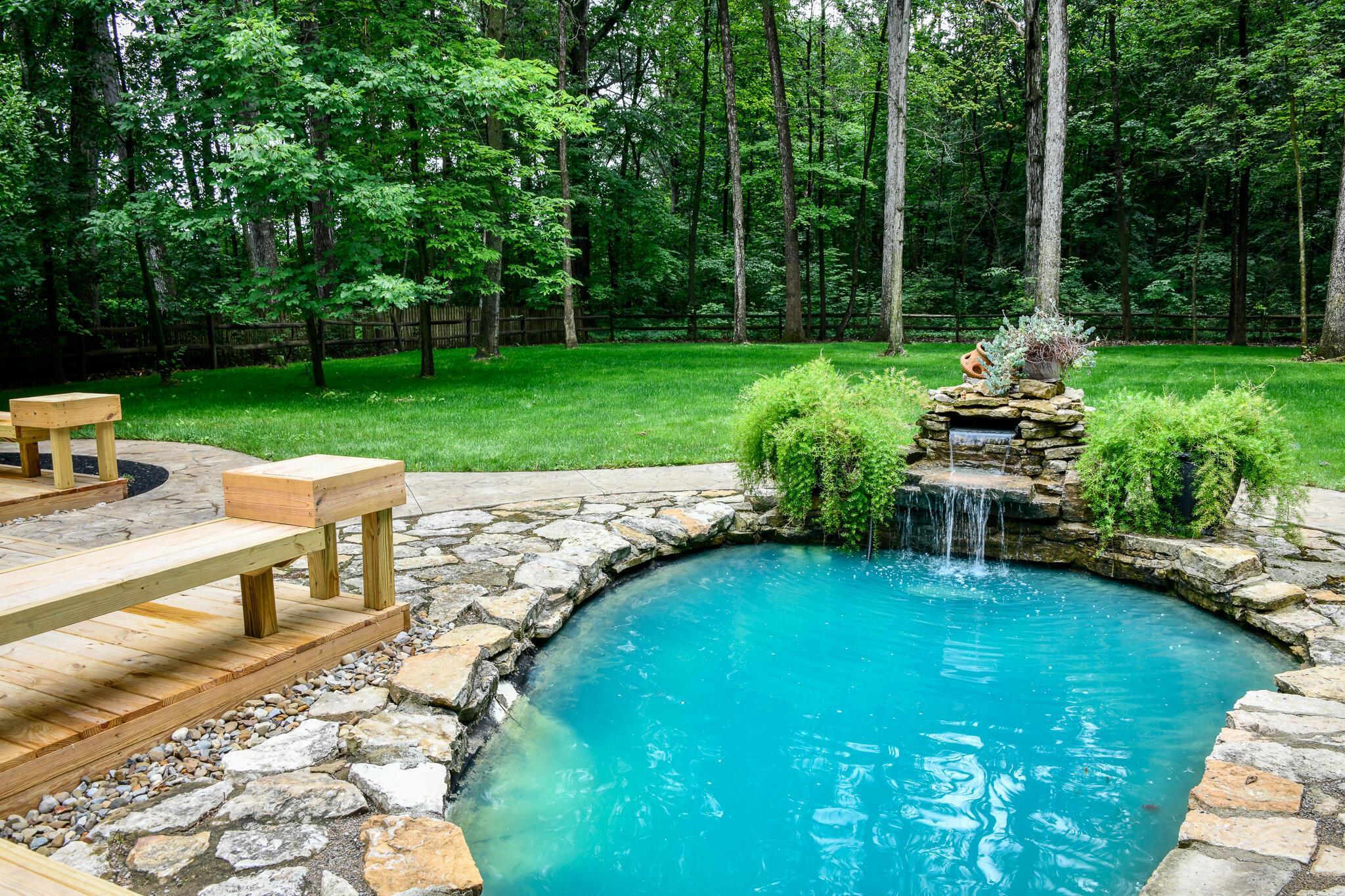 Koi Pond with Fountain