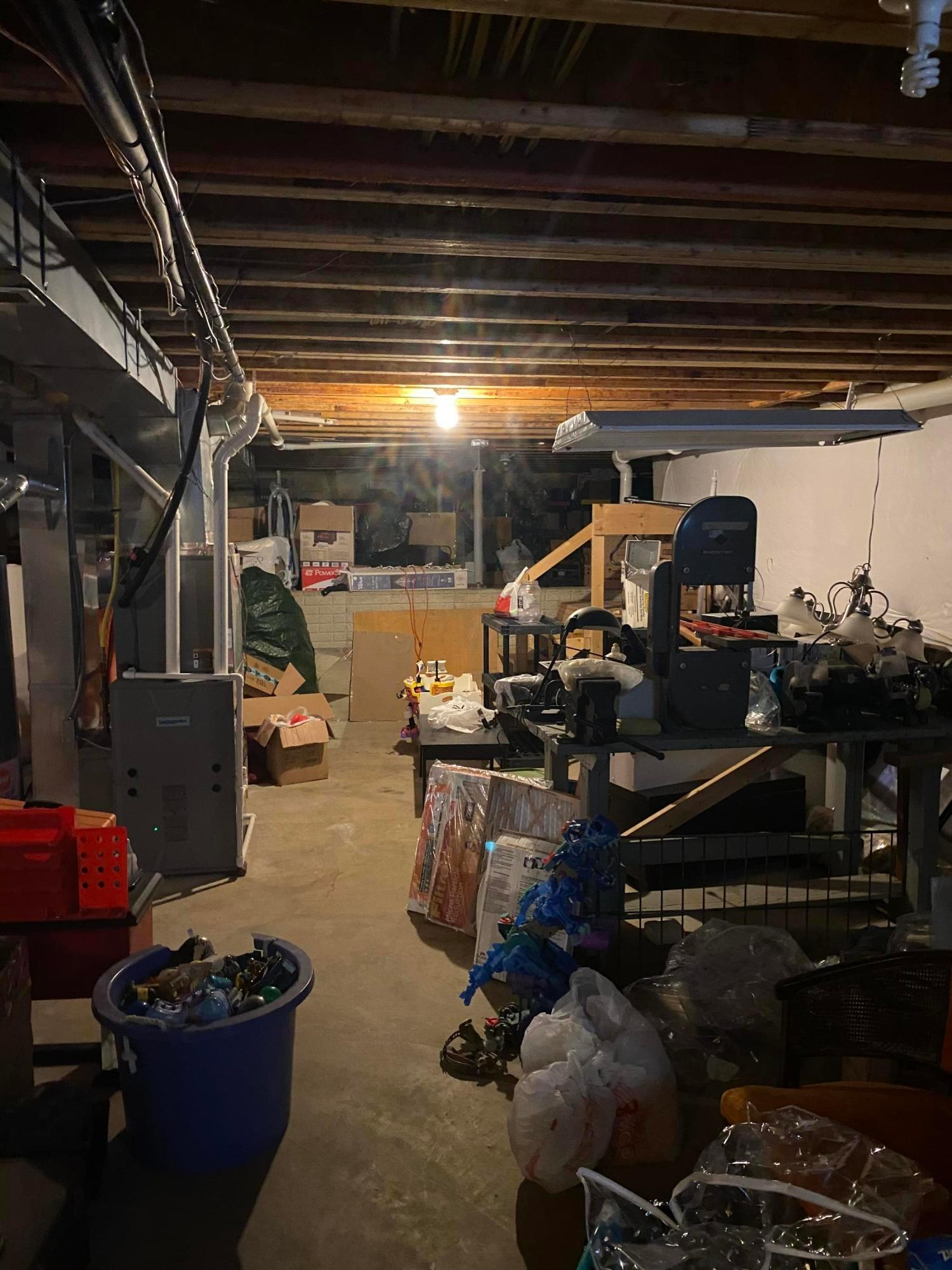 Full Basement with Large Storage Area