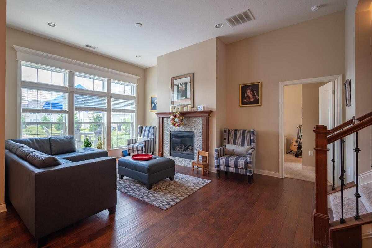 Great Room, View of Fireplace
