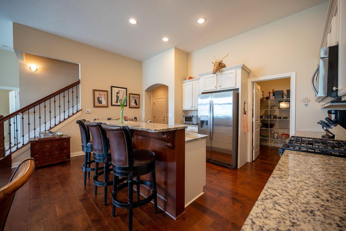 View to Kitchen and Huge Pantry