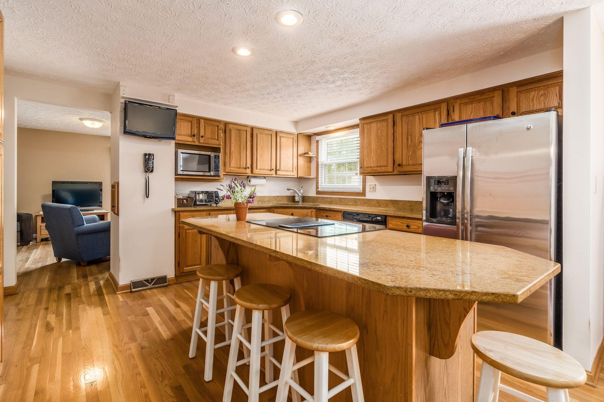 Island Dining with Granite Counter Top