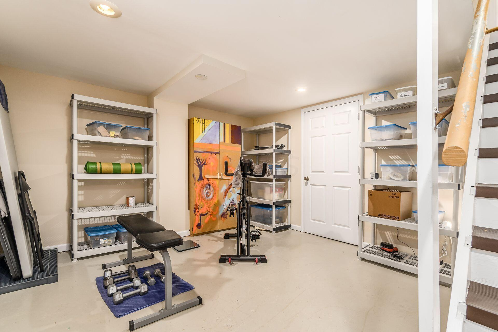 Great Storage Space in the Lower Level
