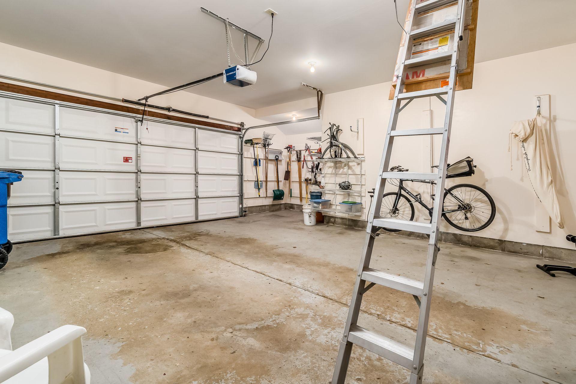 Attic Storage in Oversized Garage