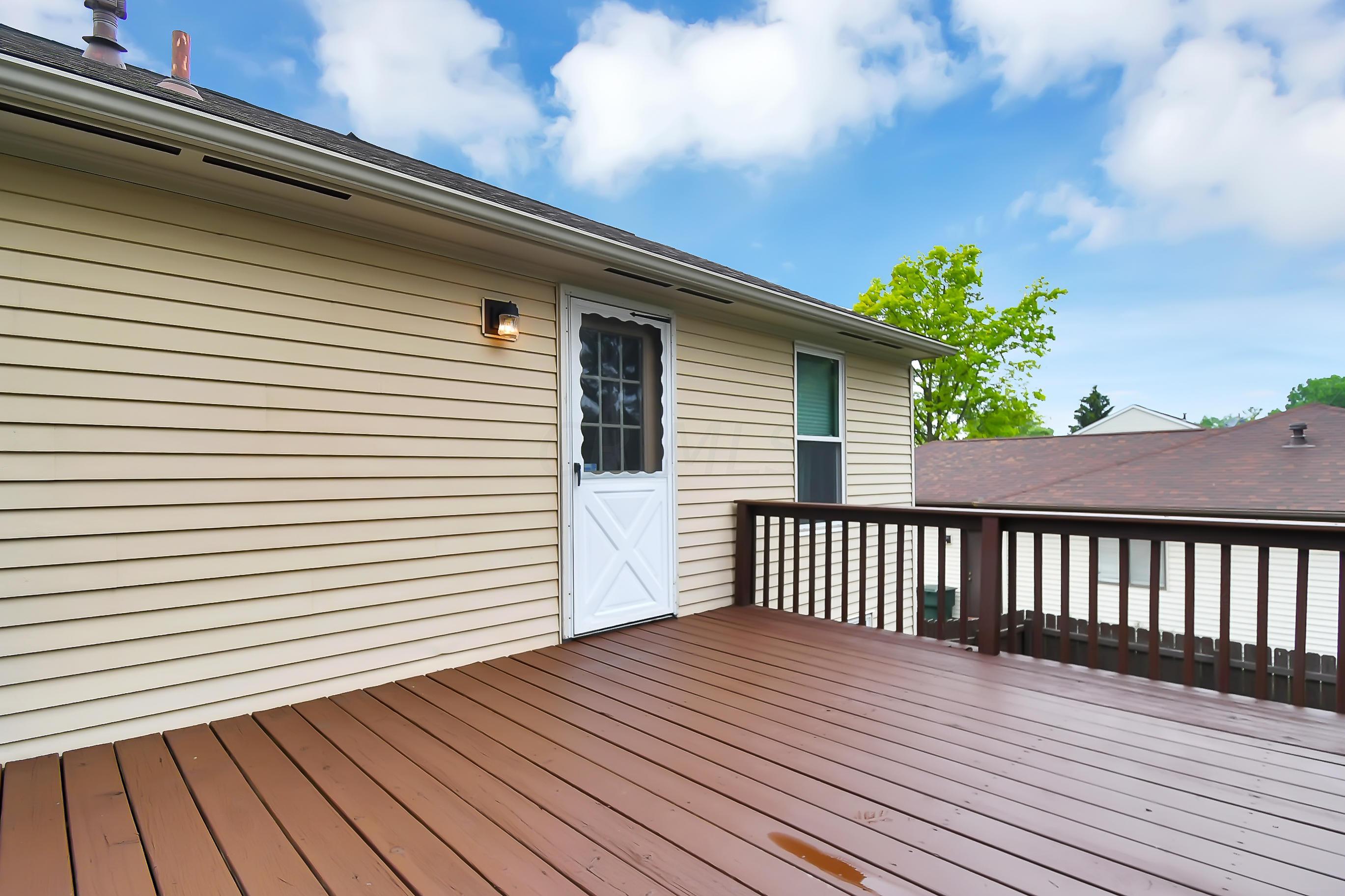 Large Deck Overlooking Backyard