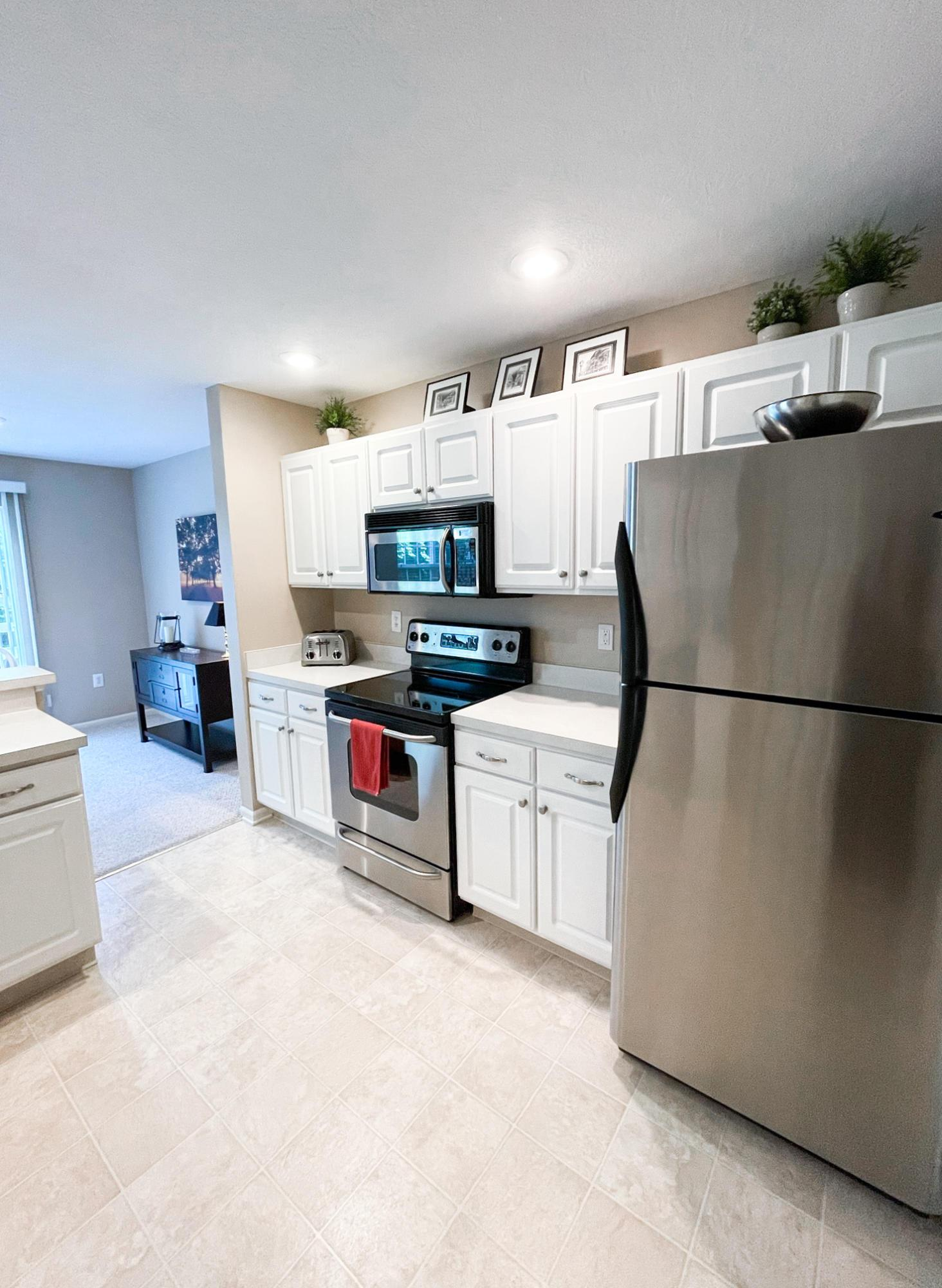 All Stainless appliances.