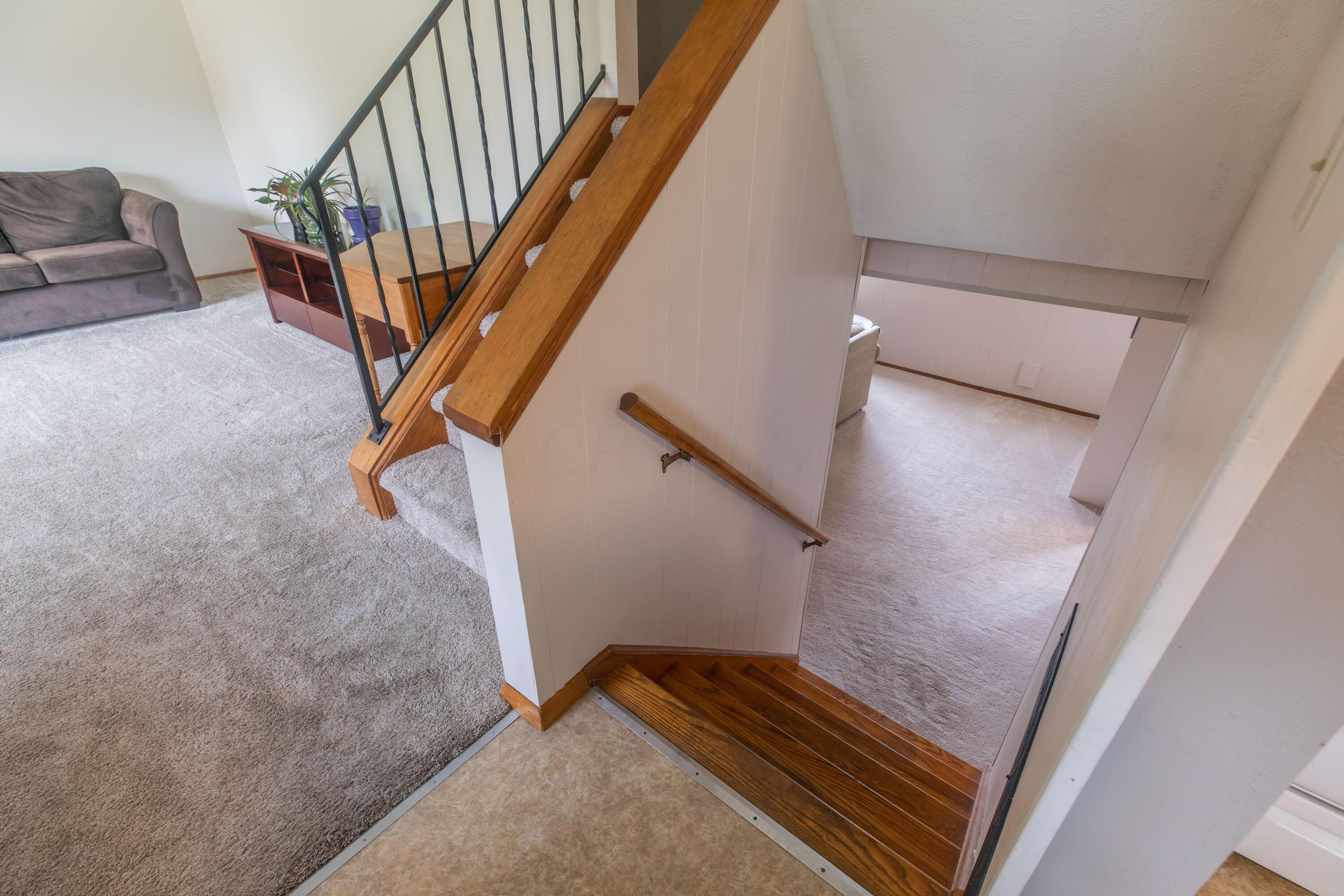 Stairs to first Lower Level
