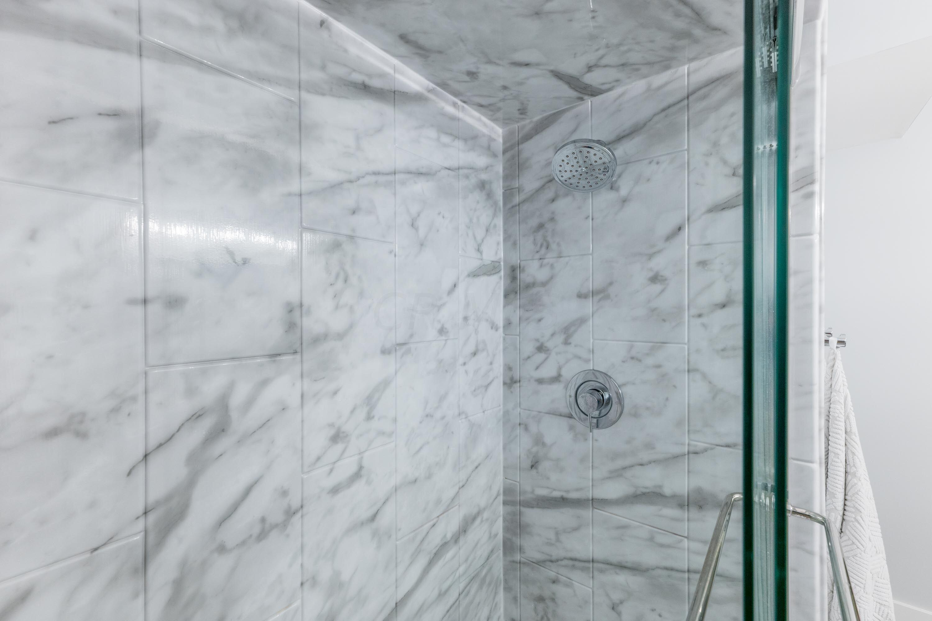 Shower in style! Glass doors.