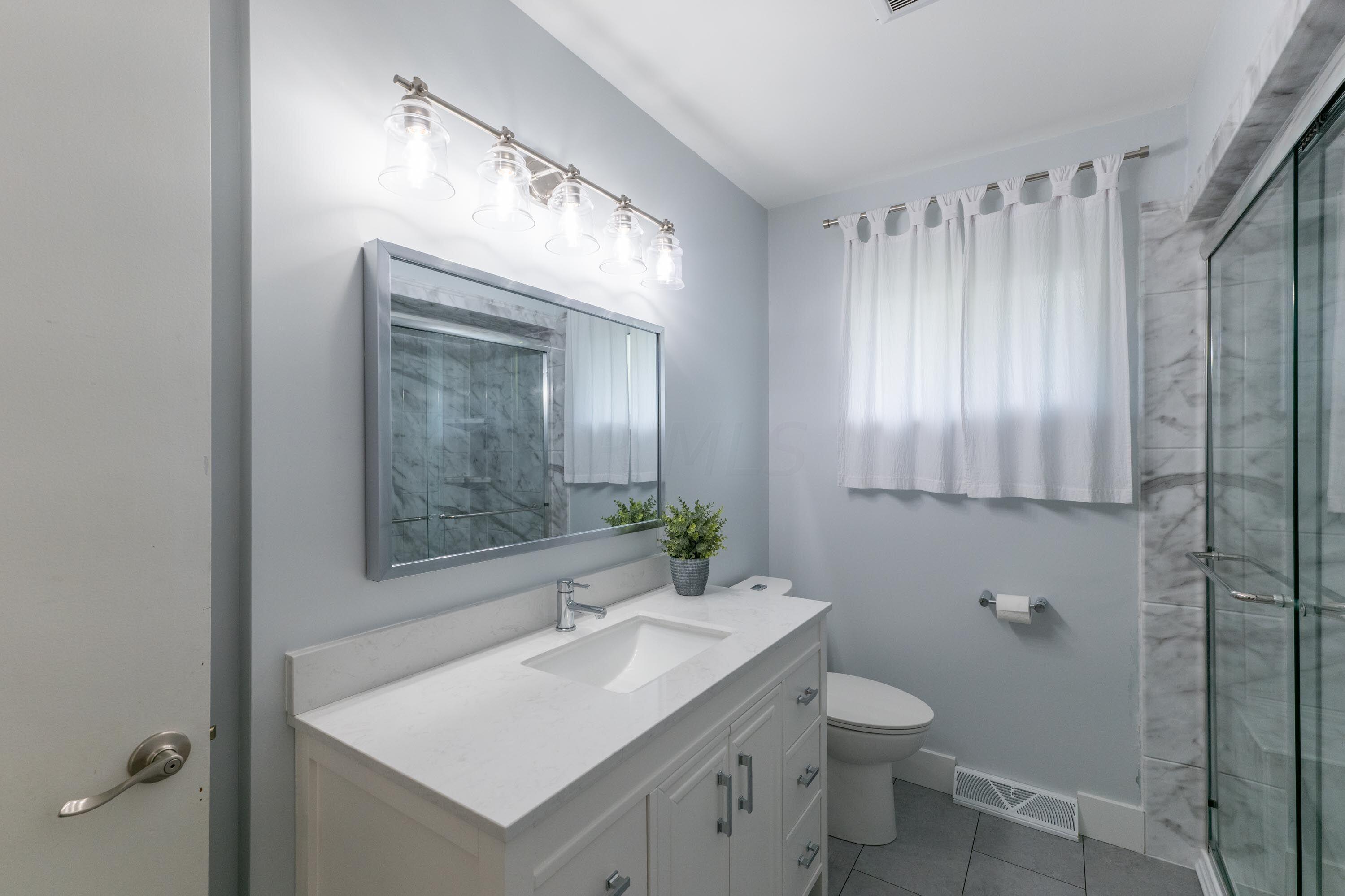 New vanity with granite top