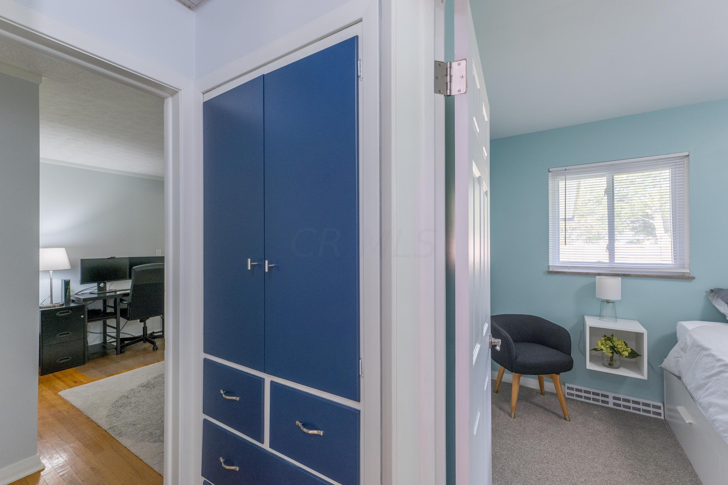 Hall linen closet built-in