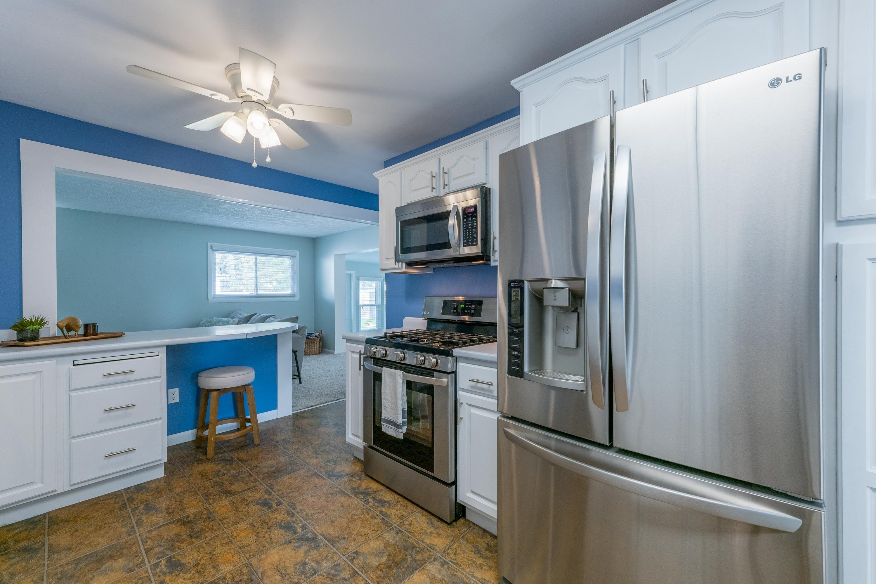 High end stainless appliances