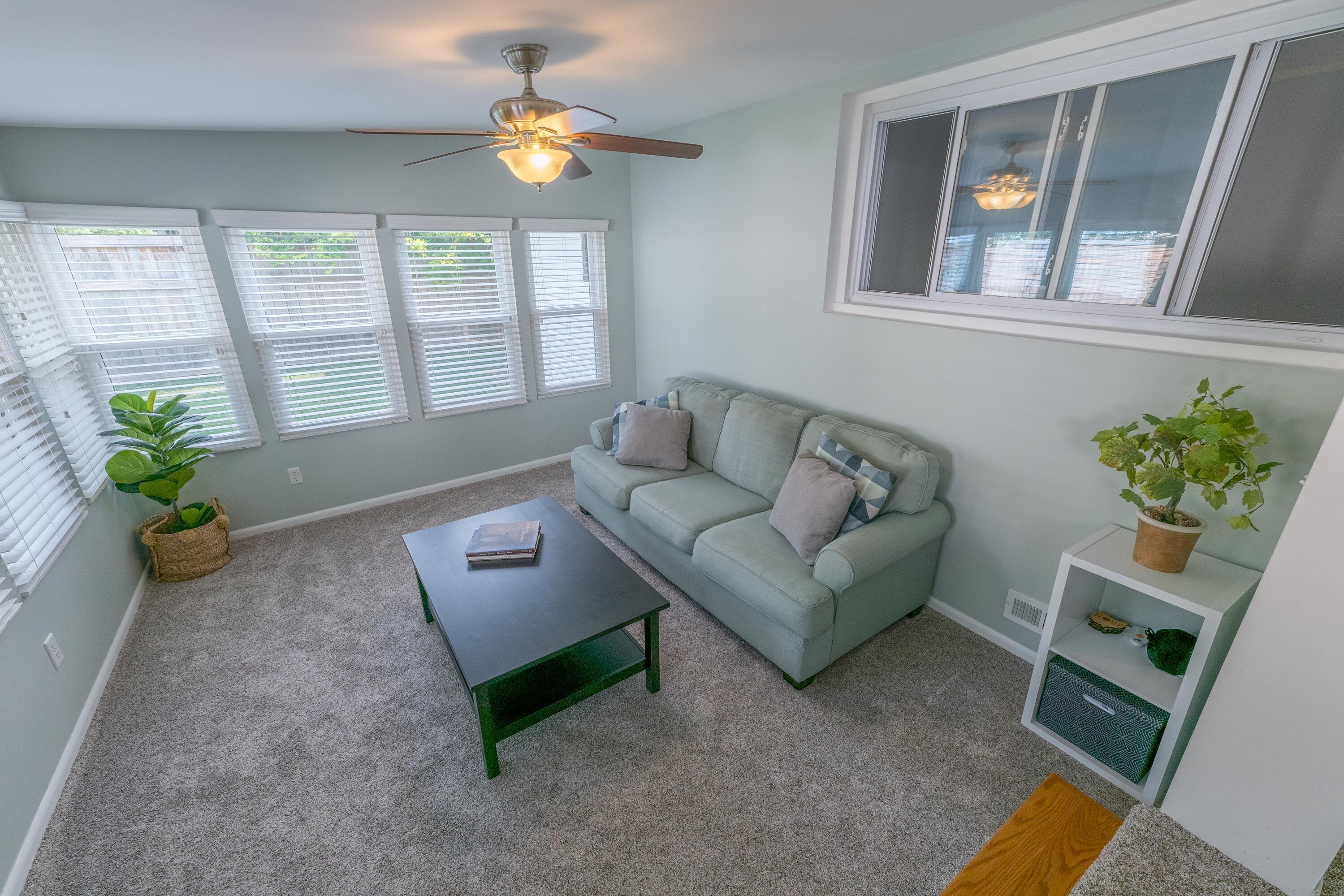 Sunroom with newer APCO windows