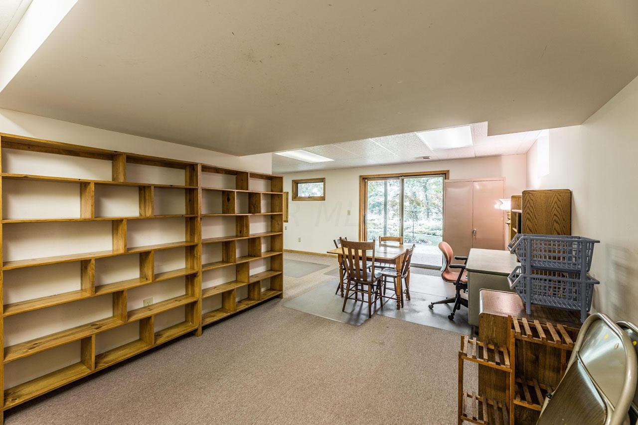 Shelves in bsmt.
