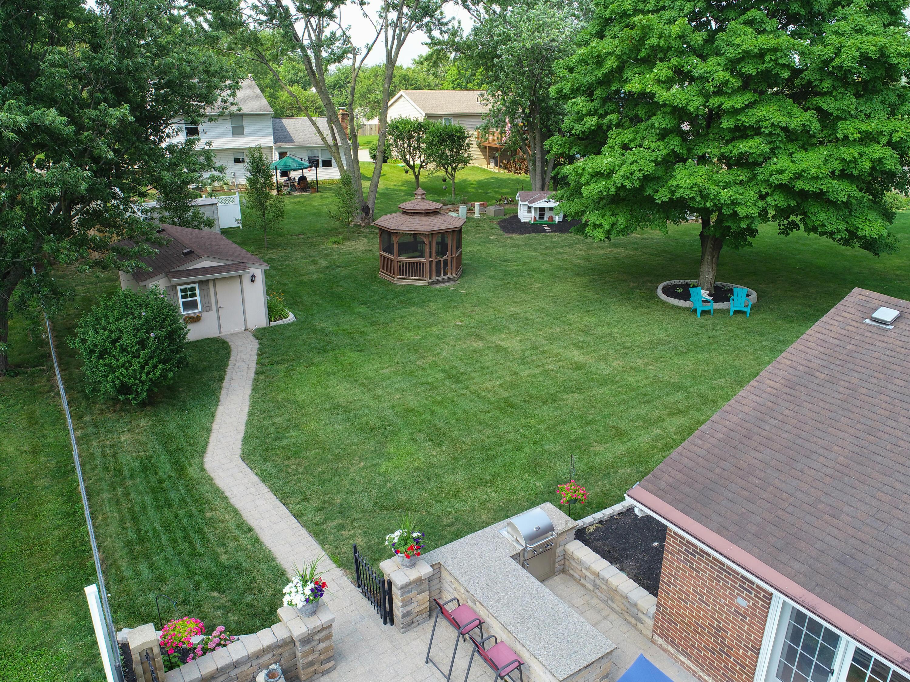 Gazebo Backyard Patio Drone