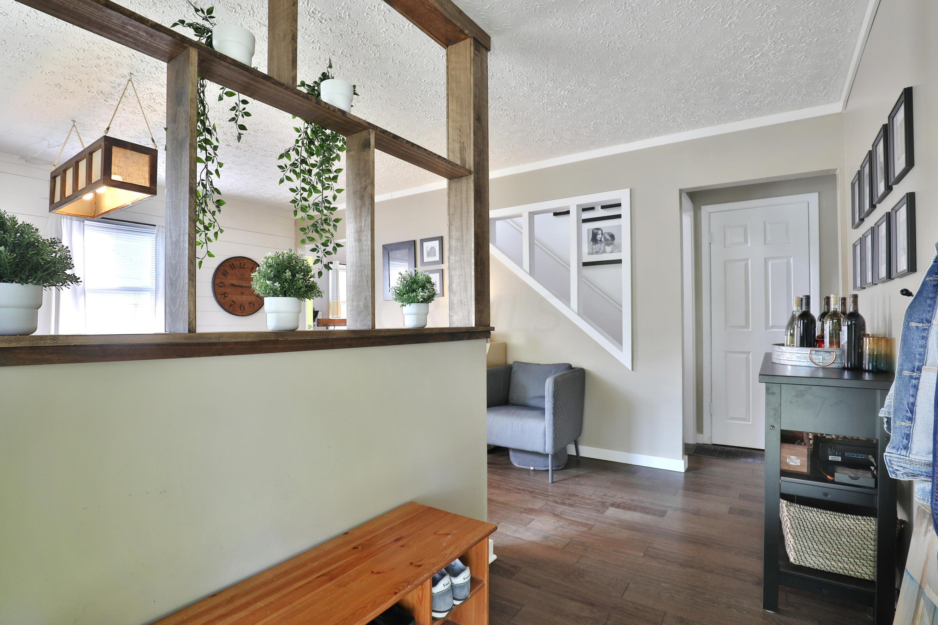 Hallway leading to knock out feature in