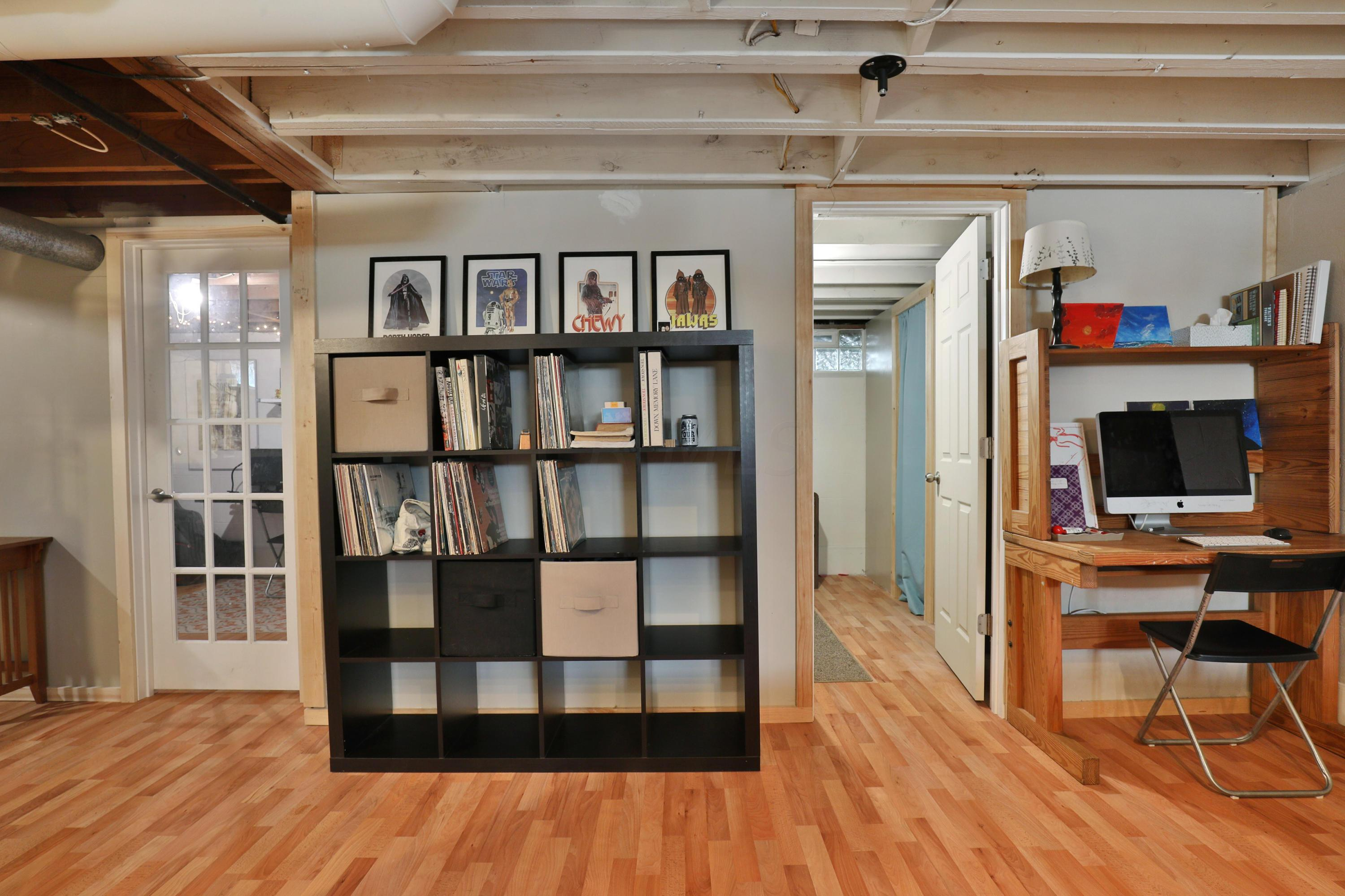 Bookcase and computer space