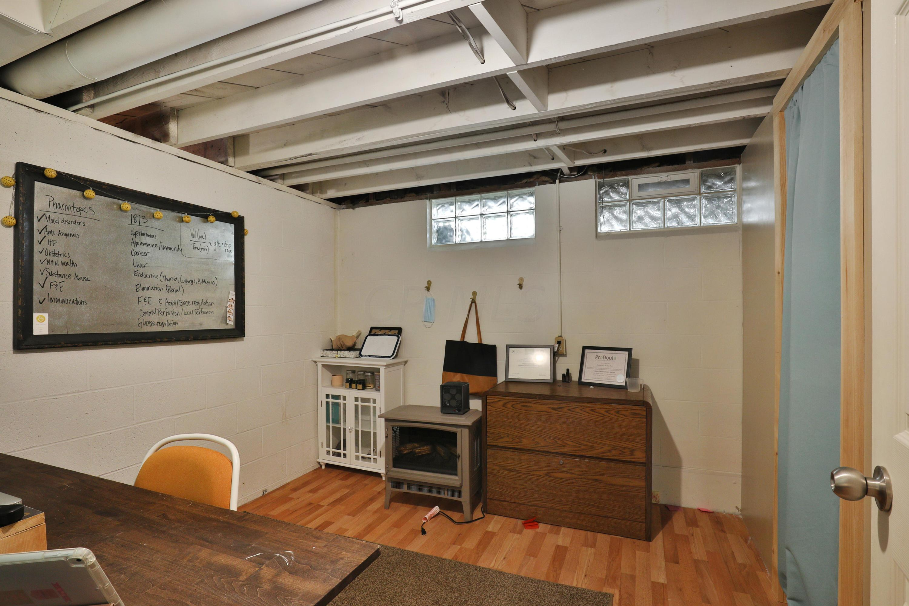One of two lower level offices with lami