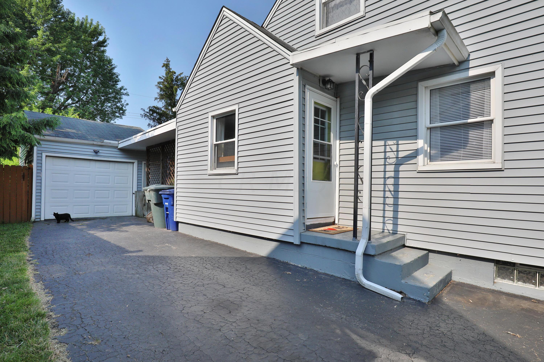 Side door leading to one car garage