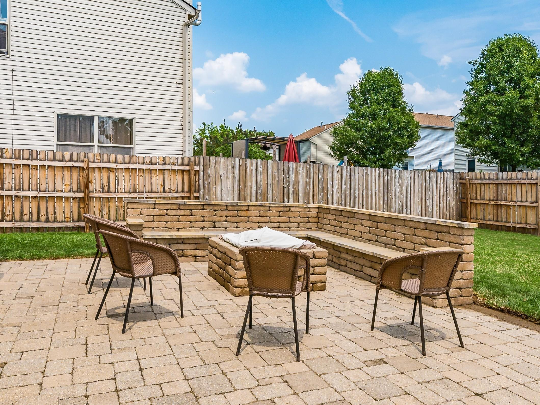 Integrated seating/Fire Pit Area