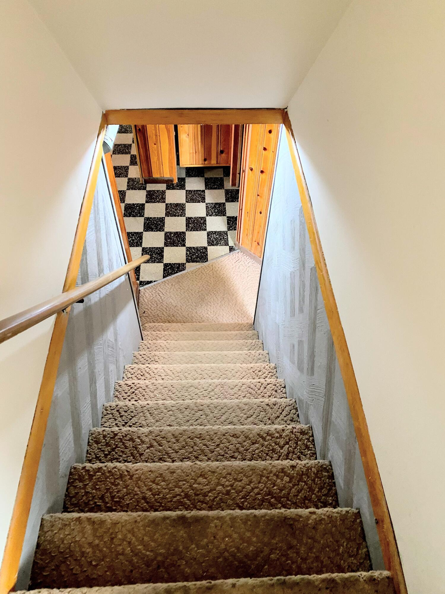 To basement