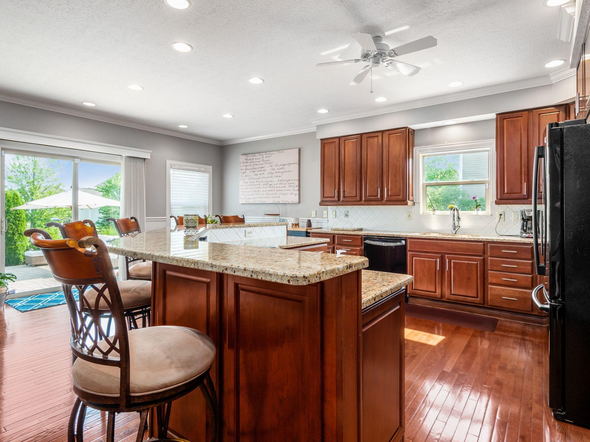 Huge Island Kitchen