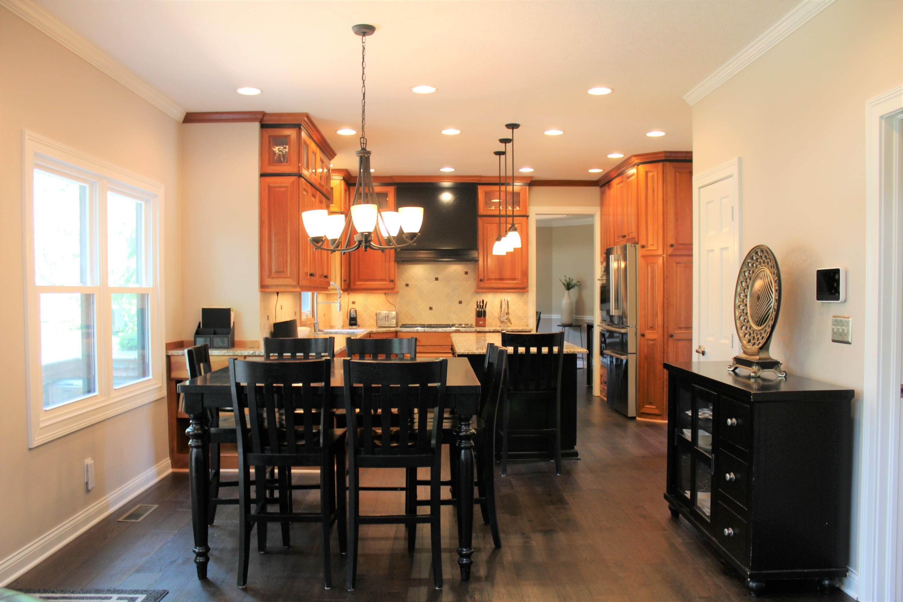 View of dinette & kitchen from family RM