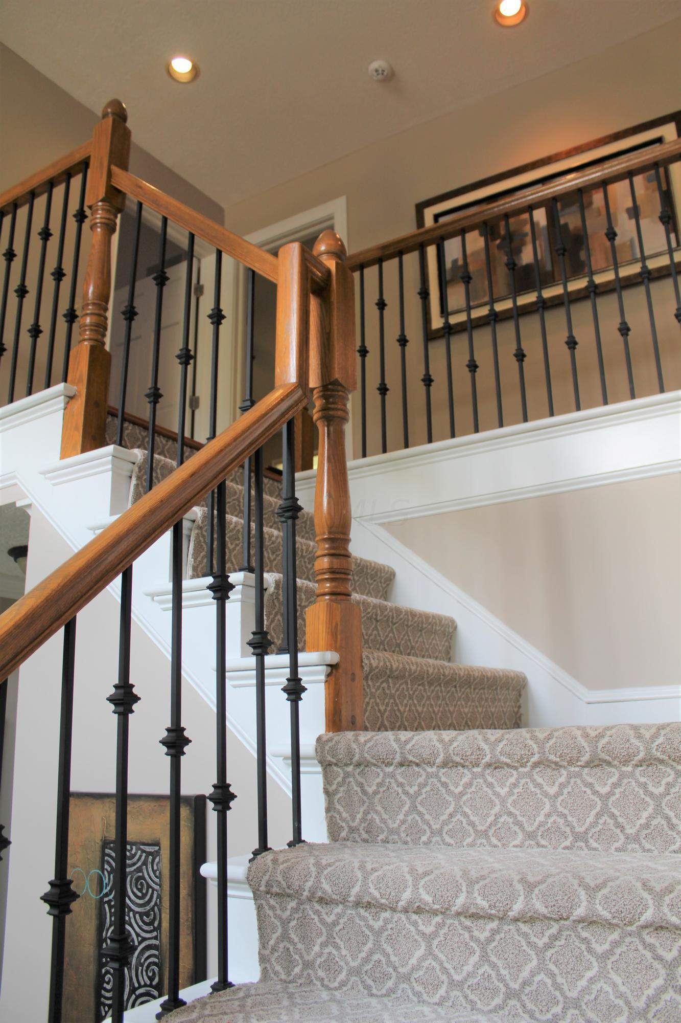 To upper level from foyer