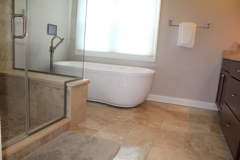 Heated marble floor