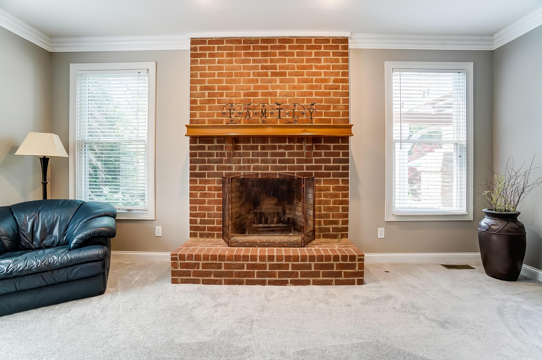 Brick Hearth Woodburning Fireplace