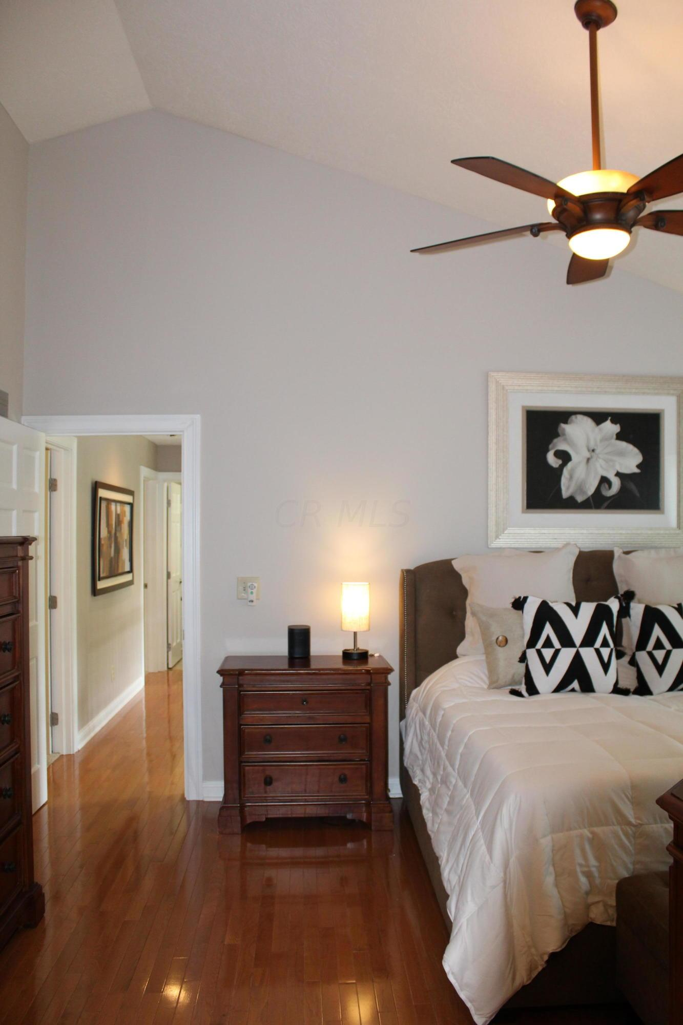 Vaulted ceiling owner suite