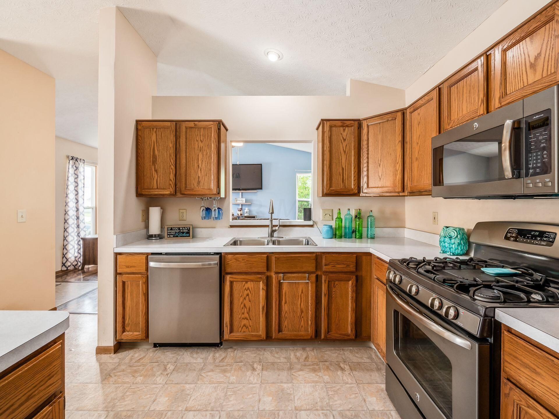Large kitchen - open to living