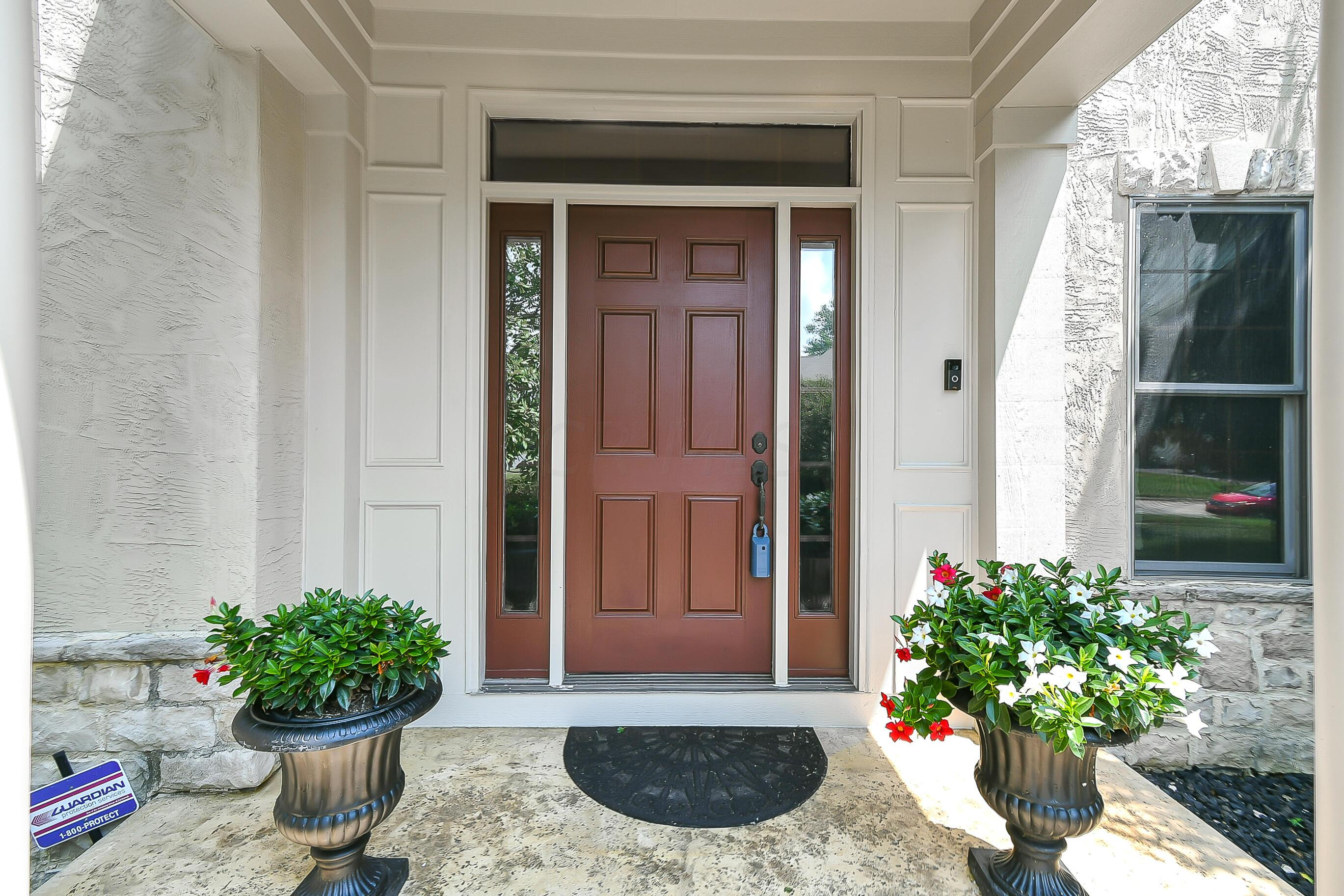Entry Accented w/STAMPED Concrete PATH