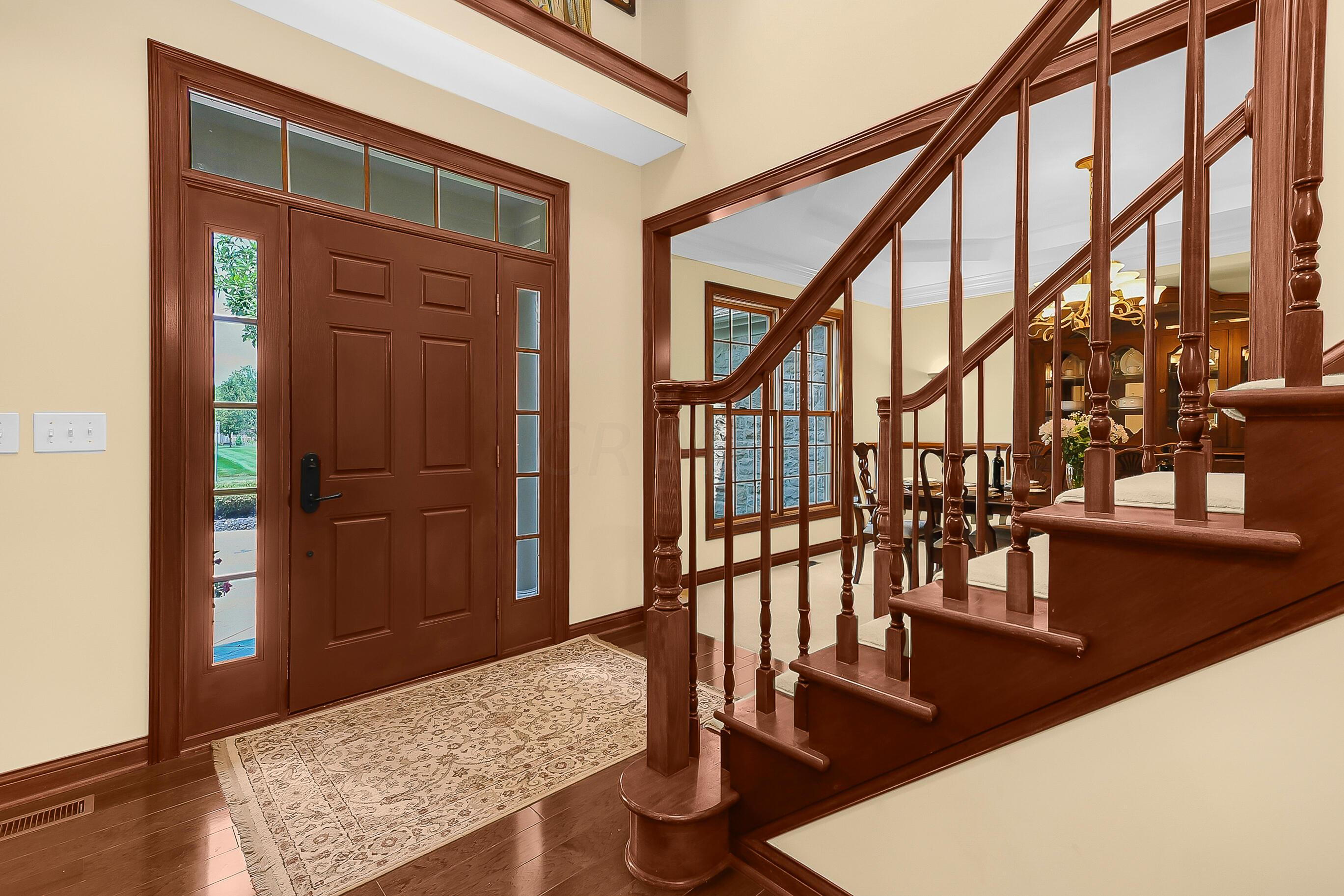 2Story FOYER is Warm and Inviting