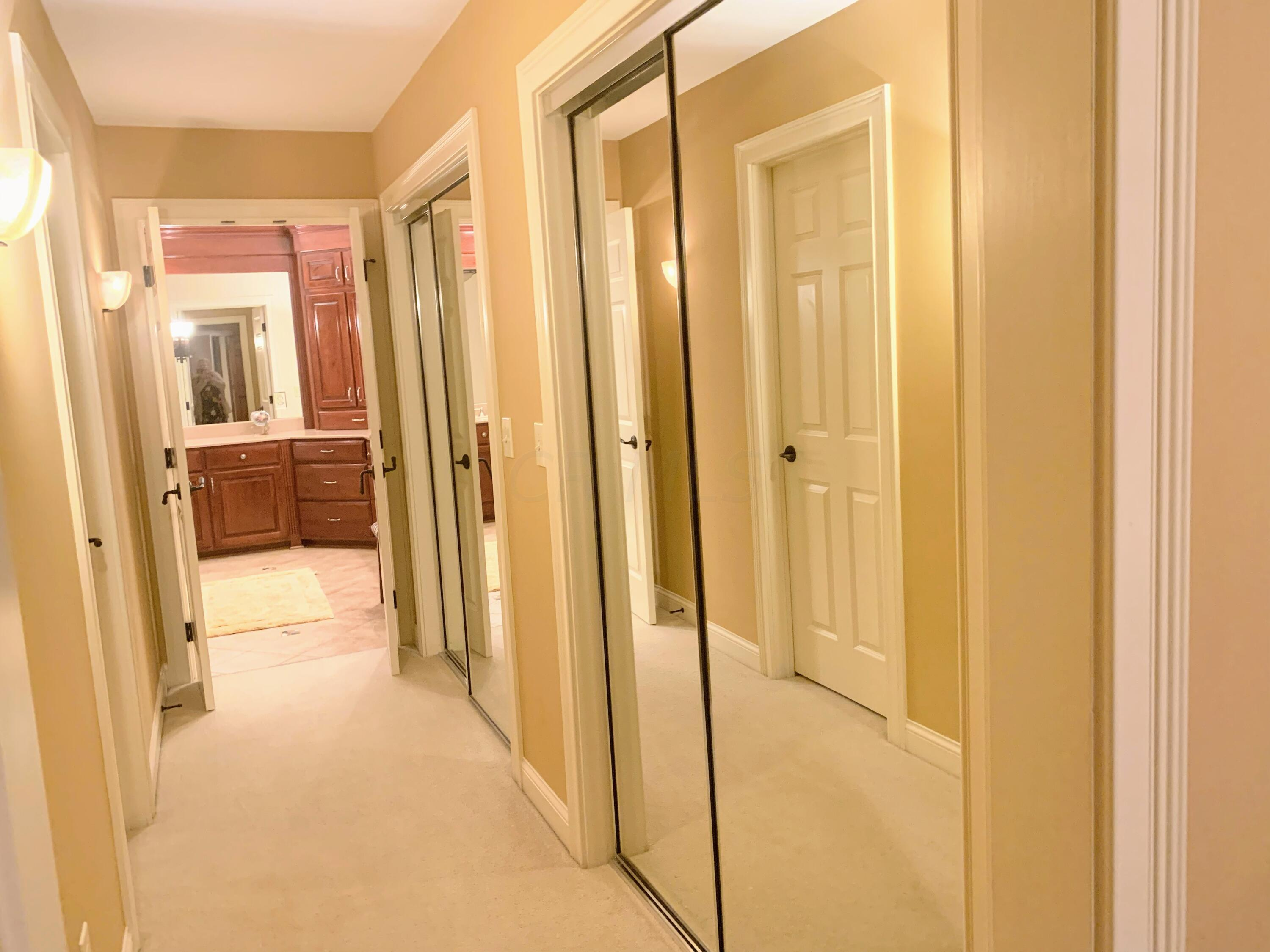 Mirrored Hall of Closets to WOWWW BATH