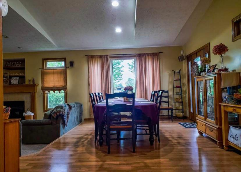open dining room, newer addition