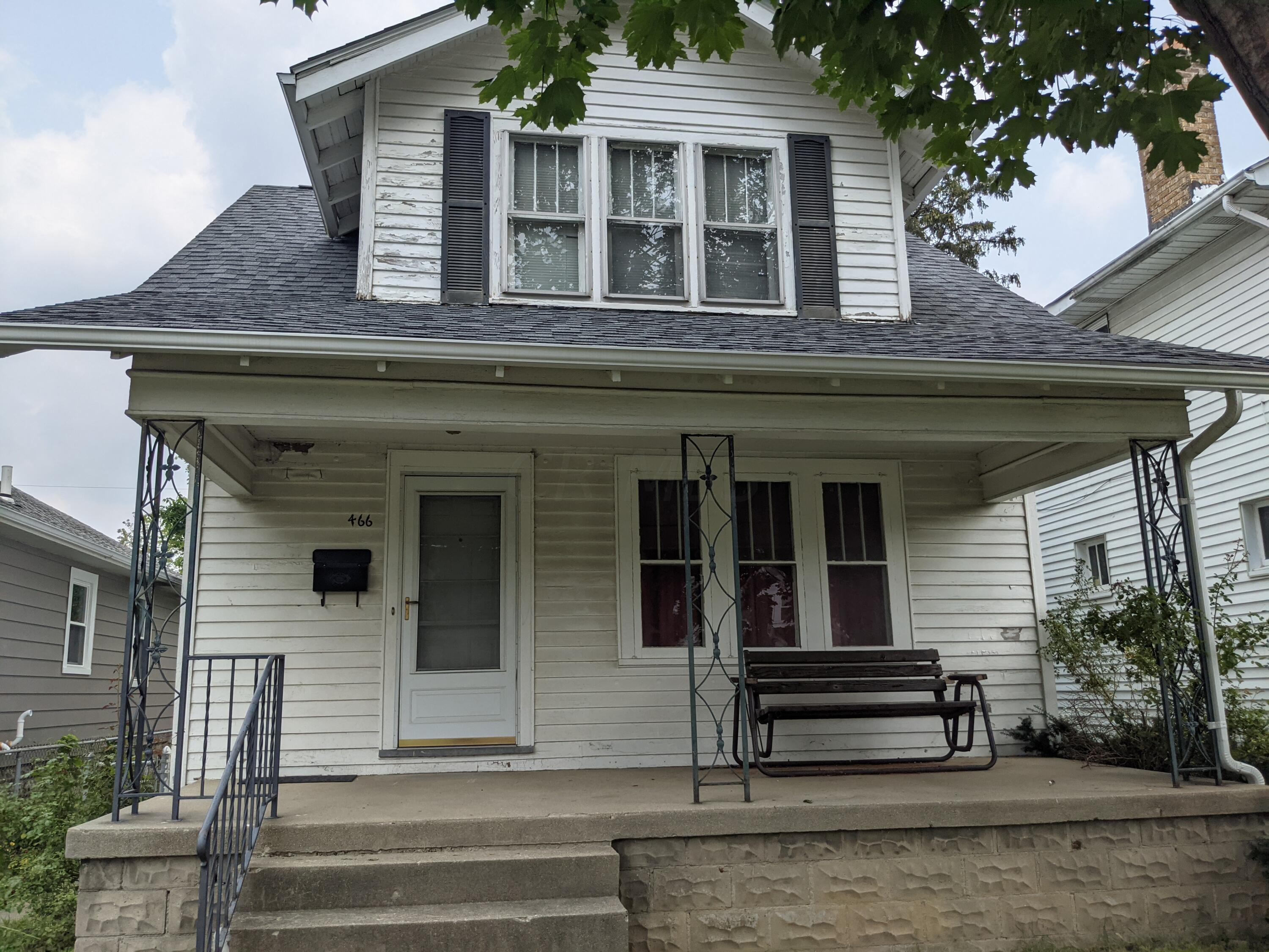 Investment opportunity.  Hardwood floors throughout, Front porch, lovely gas log fireplace, New roof in 2019.  This house if ready for your improvement.