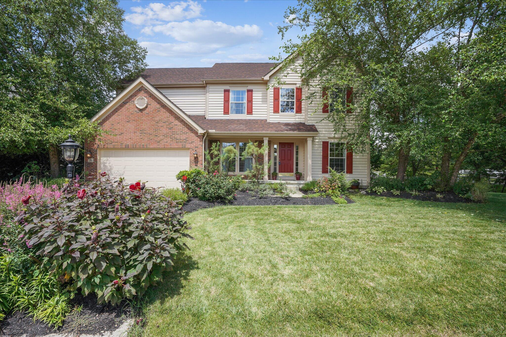 Located in Middlebury Estates, walking distance to downtown Powell restaurants & shops, near schools & down the road from the zoo, this meticulously maintained one owner, 4 BR home built by Bob Webb is one you'll want to see! 2 story family room w/ gas fireplace, windows overlooking pond offering tons of natural light & making you feel like you're on vacation 24/7. White cabinets, granite countertops, center island & stainless steel appliances in kitchen w/ eating space & door to back patio. 1st floor den/office space convenient for working from home. 4 bedrooms upstairs including master w/ vaulted ceilings, walk-in closet & updated shower. New Roof 2017, Furnace 2020, & Sump Pump 2020. 1st floor laundry, irrigation system, surround sound, finished basement & attached 2-car garage. WOW!