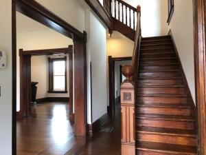 Amazing staircase, trim & original hardwood floors through out the home.