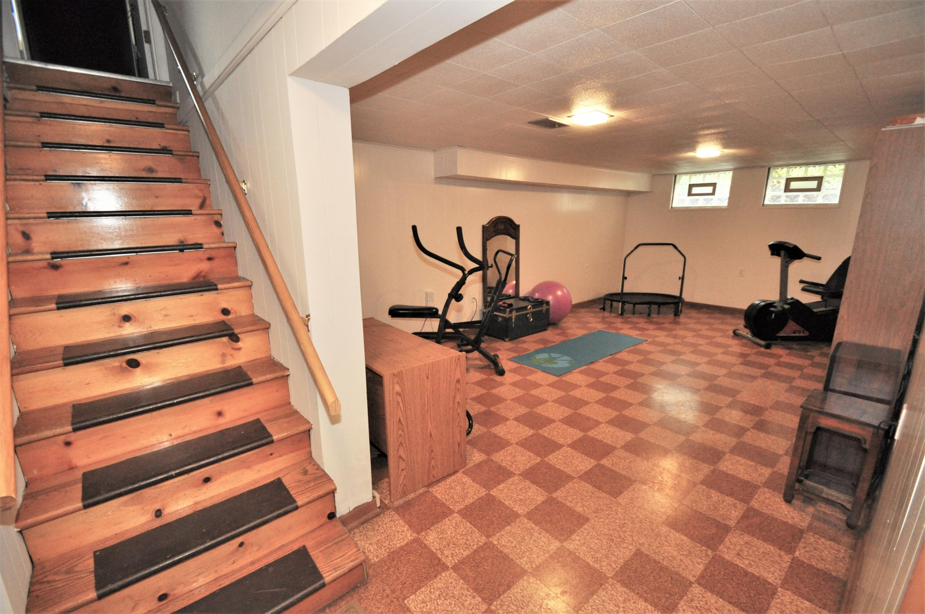 Basement stairs opens into Rec. Rm.!