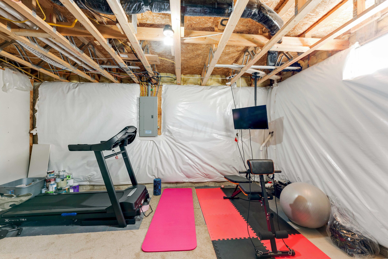Basement Storage/ Rec Room