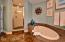 Master Bath showing jetted tub & separate shower