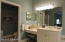 Vanity with sink and separate water closet