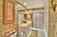 Walk-in shower in owner's suite.