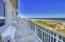 Beach house balcony.