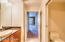 Master-bath room Suite, with pocket doors, granite counter-tops
