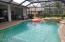screened lanai with summer grill and pool/spa