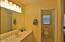 Tile floor & walk-in shower