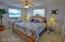 Spacious master bedroom easily accommodates king set bedroom set.